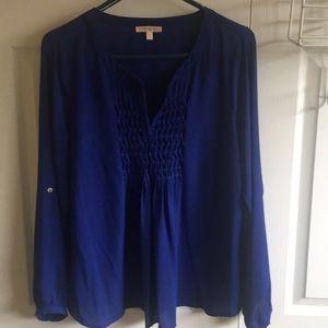 Size L Royal Blue Blouse